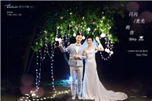 巴厘岛婚纱摄影|夜间一闪一闪发光的你