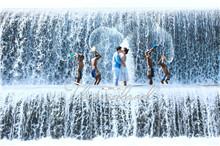 金巴海滩的魅力风情 巴厘岛婚纱照