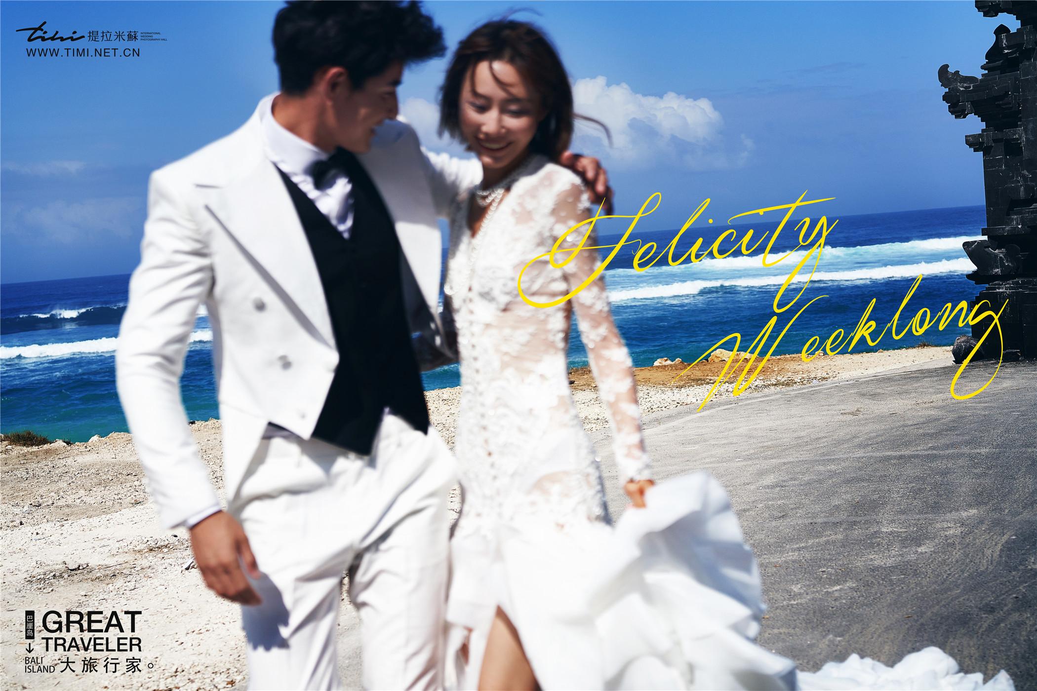 海边婚纱礼服的颜色选择